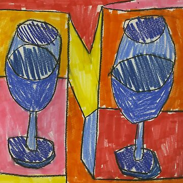 Objects IV (2013) (Wine) - drawing by artcollect by artcollect
