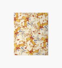 Irisses & Coriander Pattern Art Board