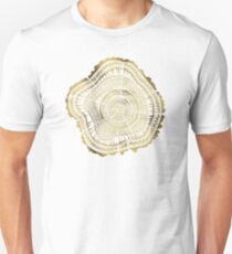 Gold Tree Rings Unisex T-Shirt