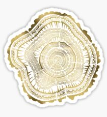 Gold Tree Rings Sticker