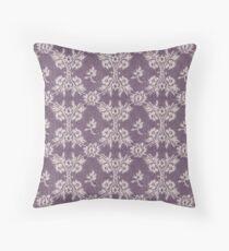 Intense Shadow Purple white lace Throw Pillow