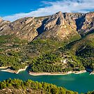 Serella mountains from Guadalest panorama by Ralph Goldsmith