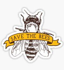 Rette die Bienen! Glänzender Sticker