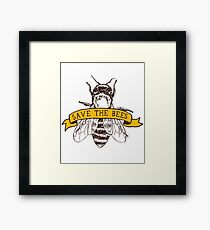 Save The Bees! Framed Print