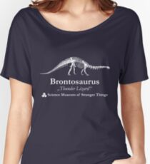 Dustin's Brontosaurus Skeleton Thunder Lizard Women's Relaxed Fit T-Shirt