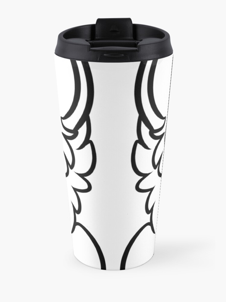 Alternate view of OwO What's This? - black text Travel Mug