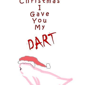 Stranger Things - Last Christmas I Gave You My Dart T-Shirt/Christmas Jumper (White) by fourthreetee