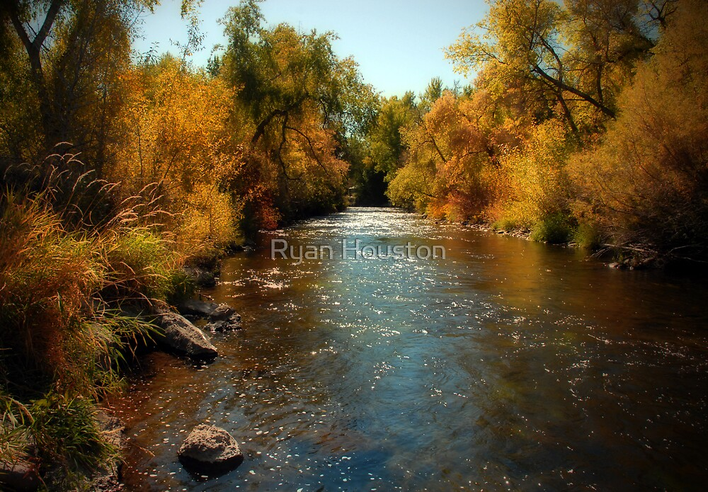 Provo River, Autumn Colors by Ryan Houston