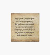 Buffy Passion Zitat Galeriedruck