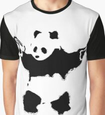 Banksy - Panda With Guns Graphic T-Shirt