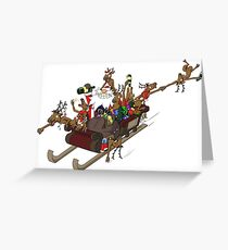 Party Christmas Sleigh Ride Greeting Card