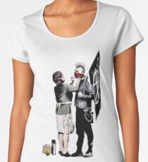 Banksy - Anarchist And Mother Women's Premium T-Shirt
