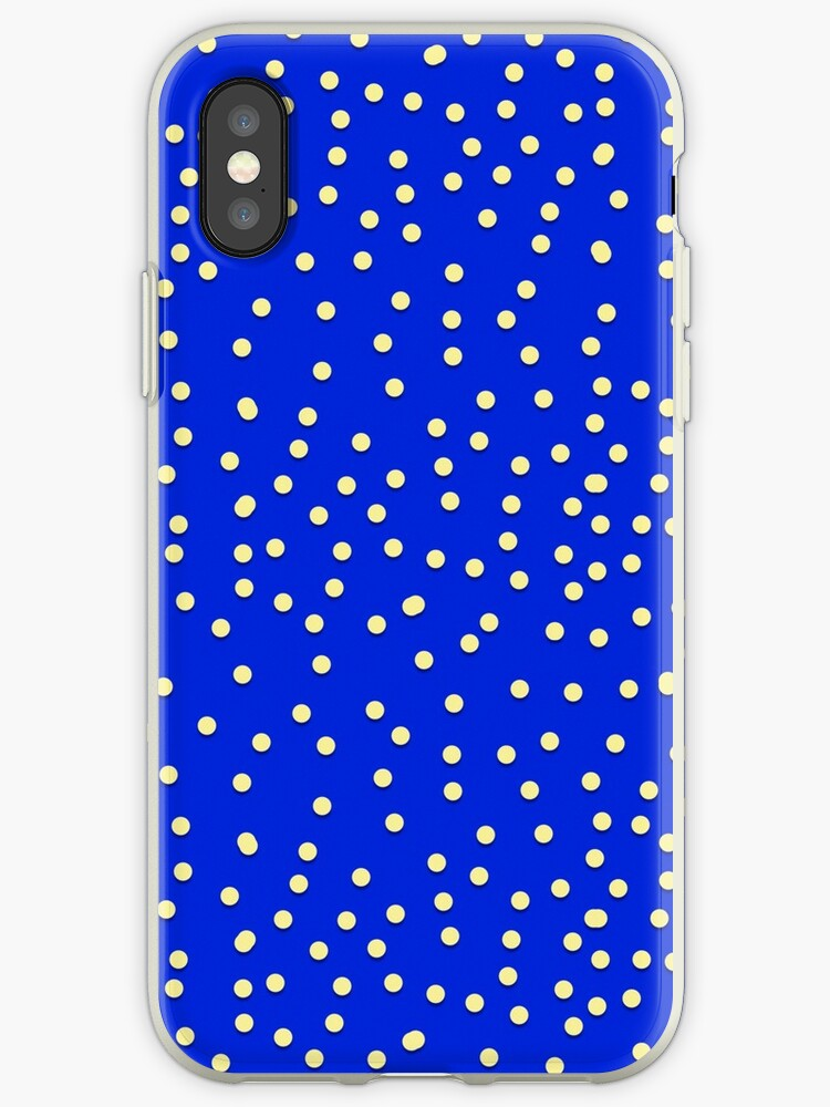 Polka Dots in Blue and White by Kathy Weaver