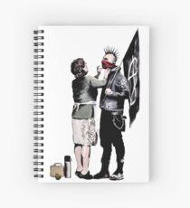 Banksy - Anarchist And Mother Spiral Notebook