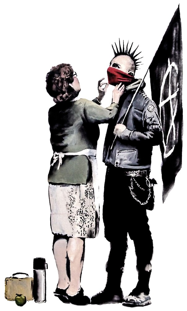Banksy - Anarchist And Mother by streetartfans