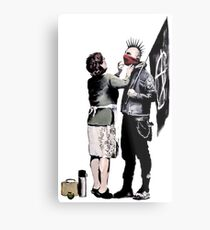 Banksy - Anarchist And Mother Metal Print