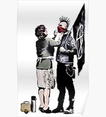 Banksy - Anarchist und Mutter Poster