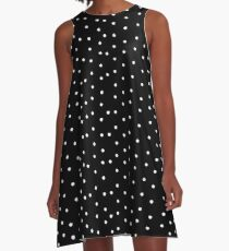 Polka Dots in Black and White A-Line Dress