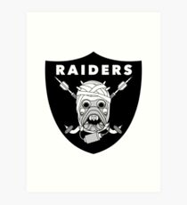 Tusken Raiders Football Badge Art Print