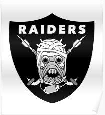 Tusken Raiders Football Badge Poster