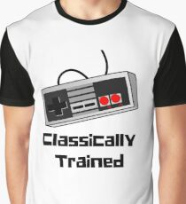 Classically Trained Old School Gamer Controller  Graphic T-Shirt