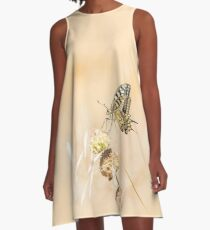 Fragile beauty of swallowtail butterfly A-Line Dress
