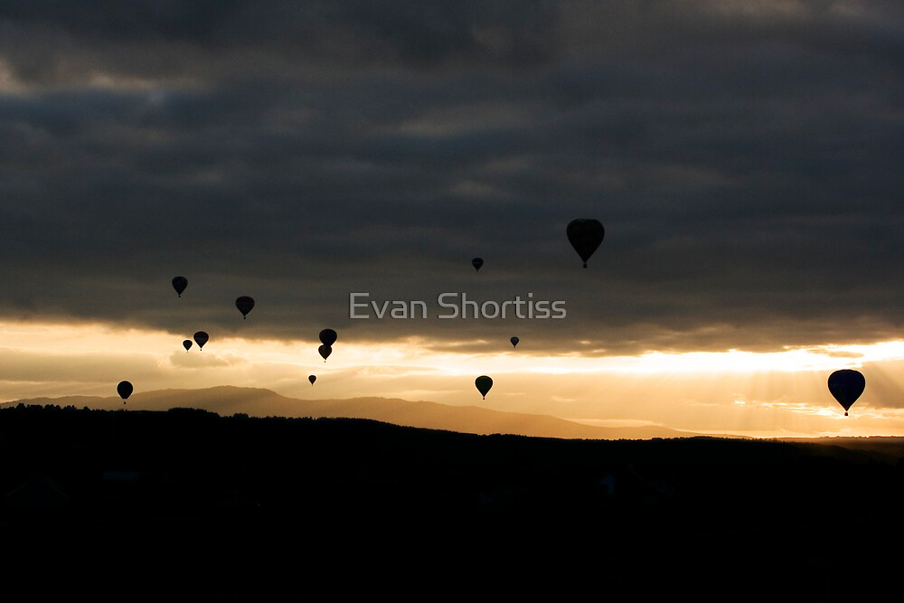 Ballooning Sunset by Evan Shortiss