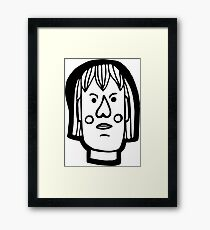 Angry person Framed Print