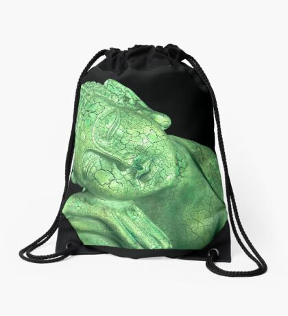 Green Buddha Drawstring Bag