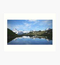 Bachalpsee lake Switzerland Art Print
