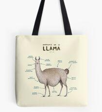Anatomie eines Llama Tote Bag