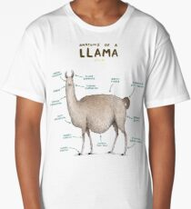 Anatomy of a Llama Long T-Shirt