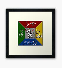 From Days of Long Ago.....Cubist Voltron Framed Print