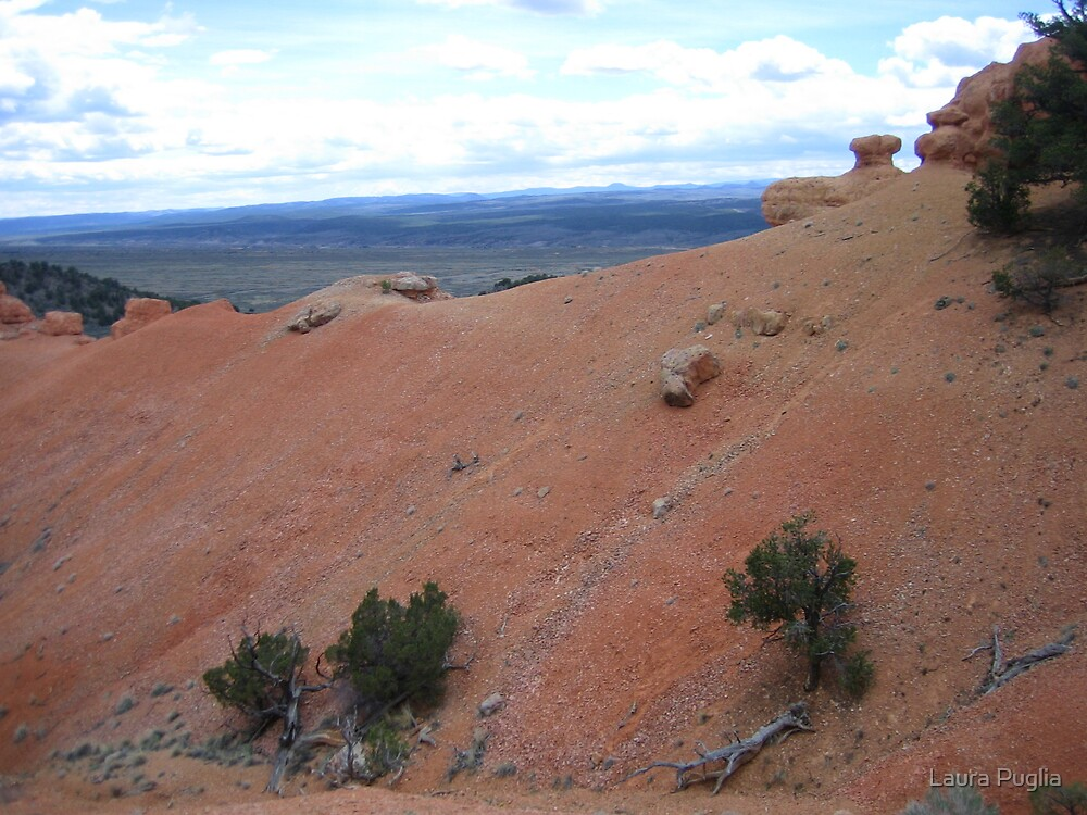 Sandstone And The Valley Below by Laura Puglia