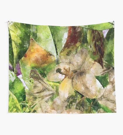 flowers pattern 33 #flowers #flora #pattern Wall Tapestry