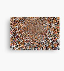 """Breaking Bad"" Edition of ""The Work"" 3200 Faces Collage. Canvas Print"