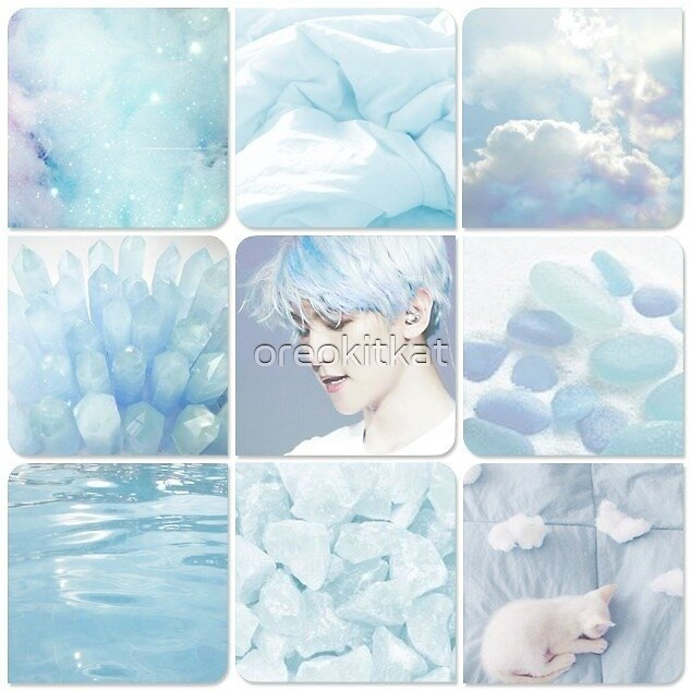 """EXO Baekhyun Blue Aesthetic Sticker"" By Oreokitkat"