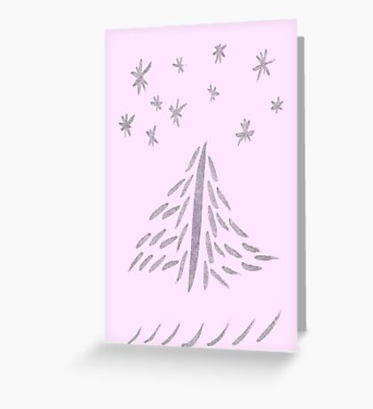Pink Tree Greeting Card
