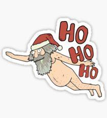 Naked Santa Ho Ho Ho Sticker