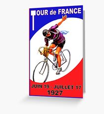 TOUR DE FRANCE ; Vintage Bicycle Race Advertising Print Greeting Card