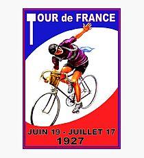 TOUR DE FRANCE ; Vintage Bicycle Race Advertising Print Photographic Print