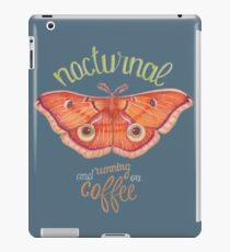 nocturnal orange moth running on coffee on dark background iPad Case/Skin