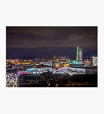 Leeds Skyline and the Dalek!  Photographic Print