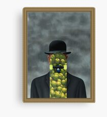 Magritte was a skater Canvas Print