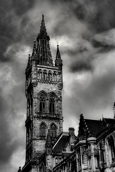 Glasgow University Tower by Thistle Images