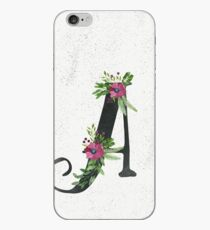 Letter A with Floral Wreath iPhone Case