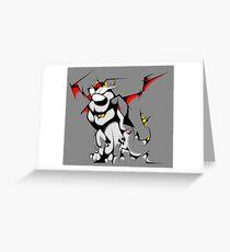 Black Voltron Lion Cubist Greeting Card