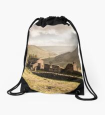 Crackpot Hall, Swaledale, North Yorkshire Drawstring Bag