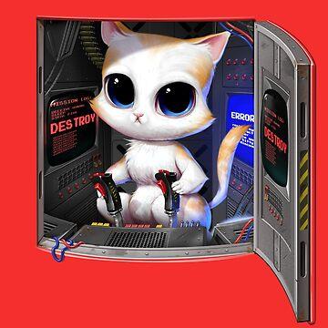 Cat Piloted Cyborg de andremuller