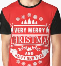 Merry Christmas And Happy New Year Graphic T-Shirt